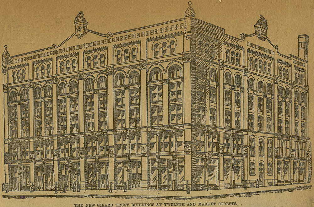 The new Girard Trust buildings at Twelfth and Market Streets