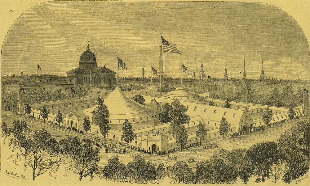 The Great Central Fair, Logan Square, 1864.