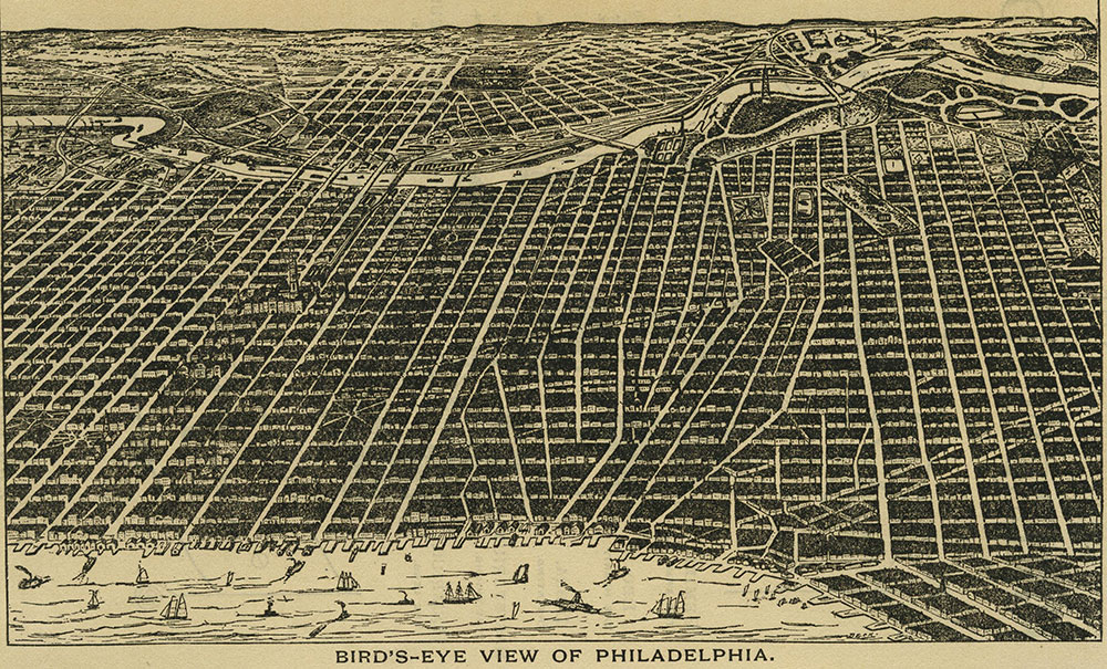 Bird's-Eye View of Philadelphia.