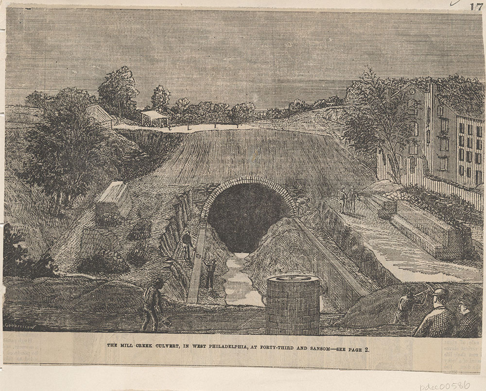The Mill Creek Culvert, in West Philadelphia, at Forty-third and Sansom