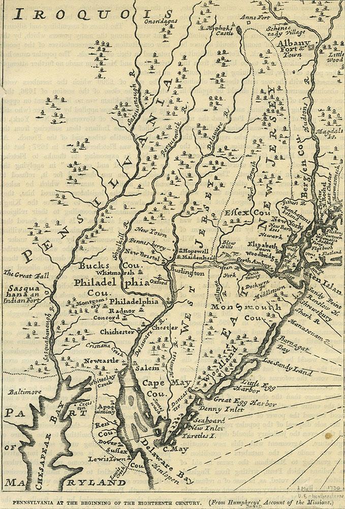 Pennsylvania at the Beginning of the Eighteenth Century.