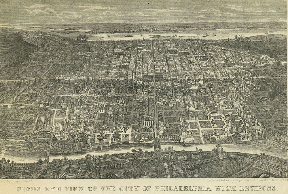 Bird's Eye View of the City of Philadelphia with Environs.