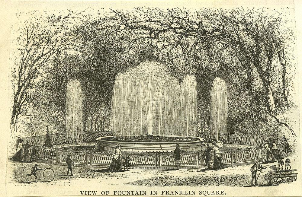 View of Fountain in Franklin Square.