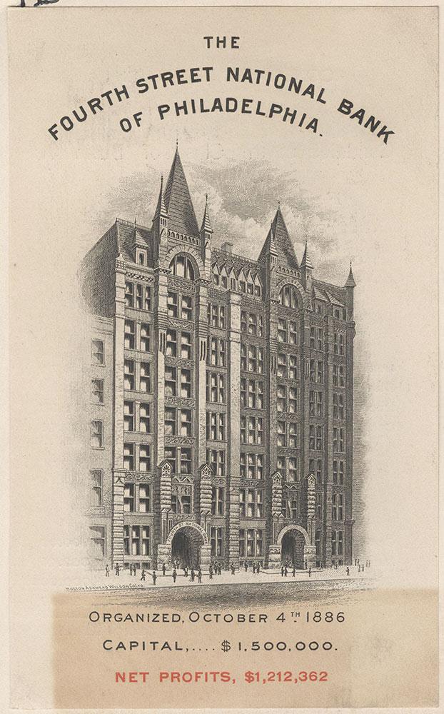 The Fourth Street National Bank of Philadelphia - The Bullitt Building.