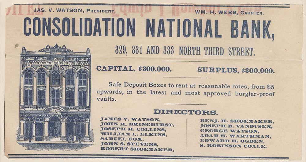 Consolidation National Bank