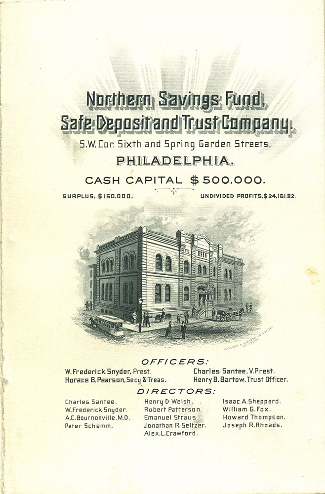 Northern Savings Fund Safe Deposit and Trust Company.