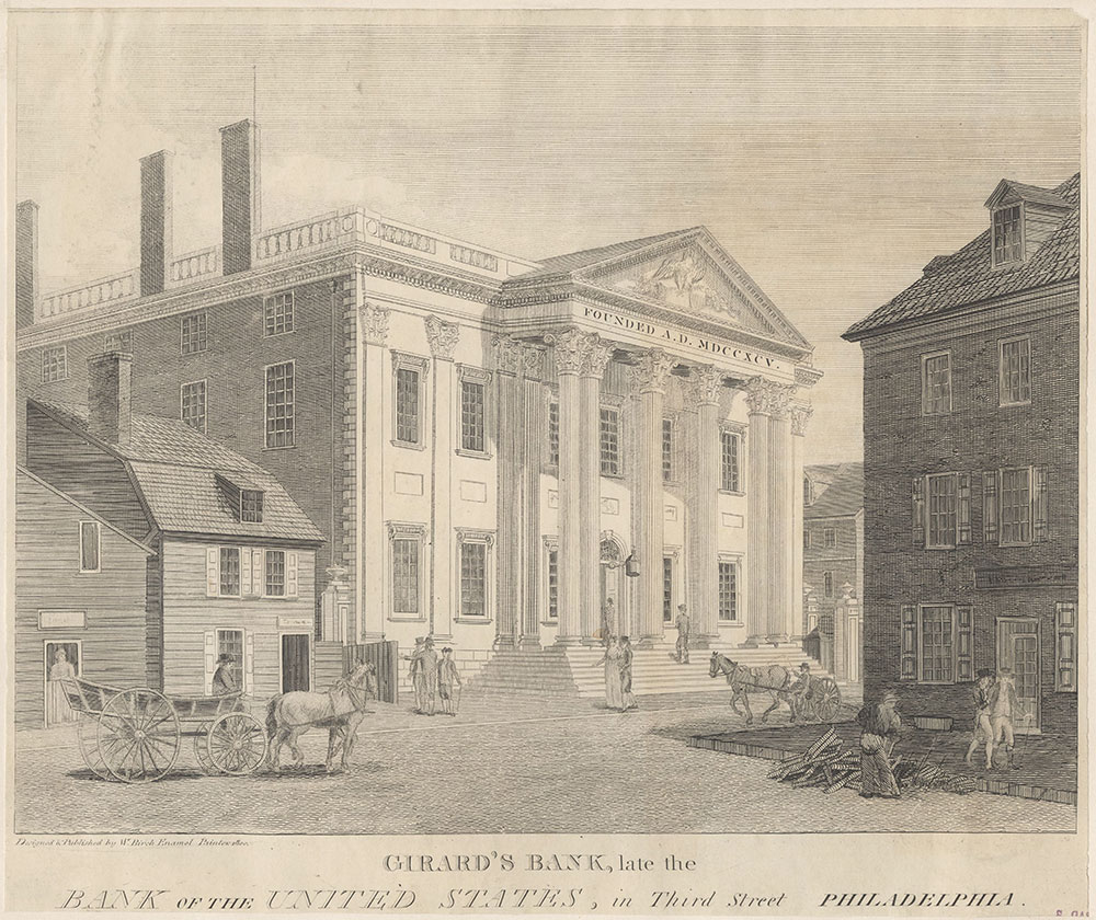Girard's Bank, late the Bank of the United States, in Third Street Philadelphia.