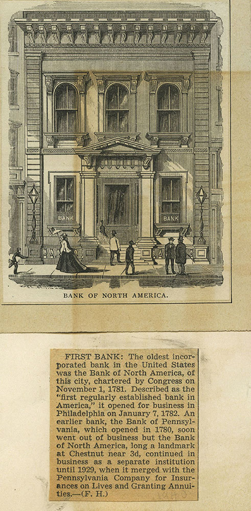 Bank of North America.
