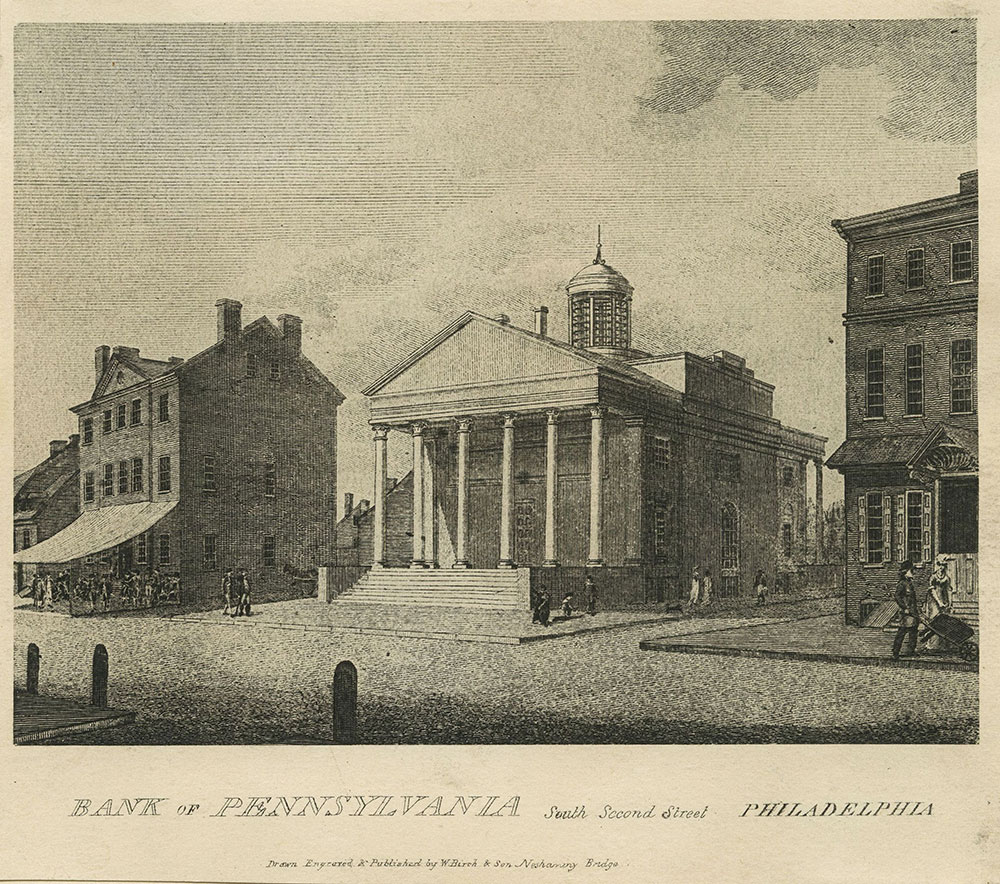 Bank of Pennsylvania, South Second Street, Philadelphia.
