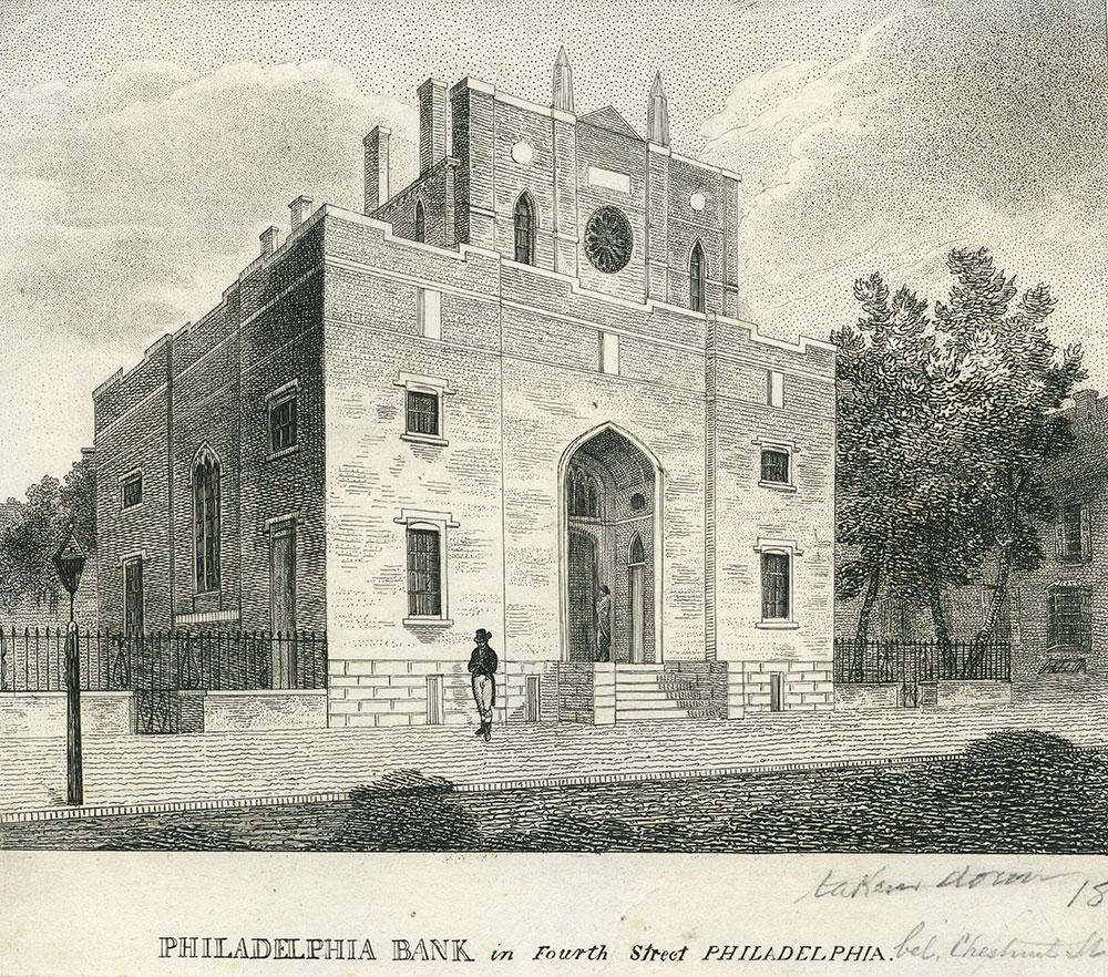 Philadelphia Bank in Fourth Street, Philadelphia.