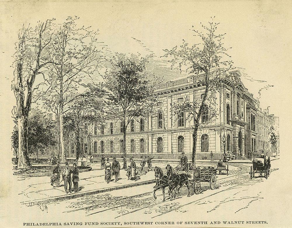 Philadelphia Saving Fund Society, Southwest corner of Seventh and Walnut Streets