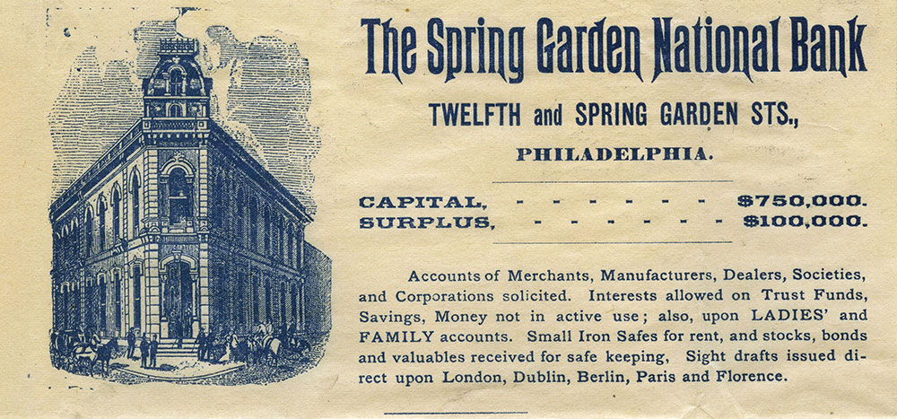 The Spring Garden National Bank