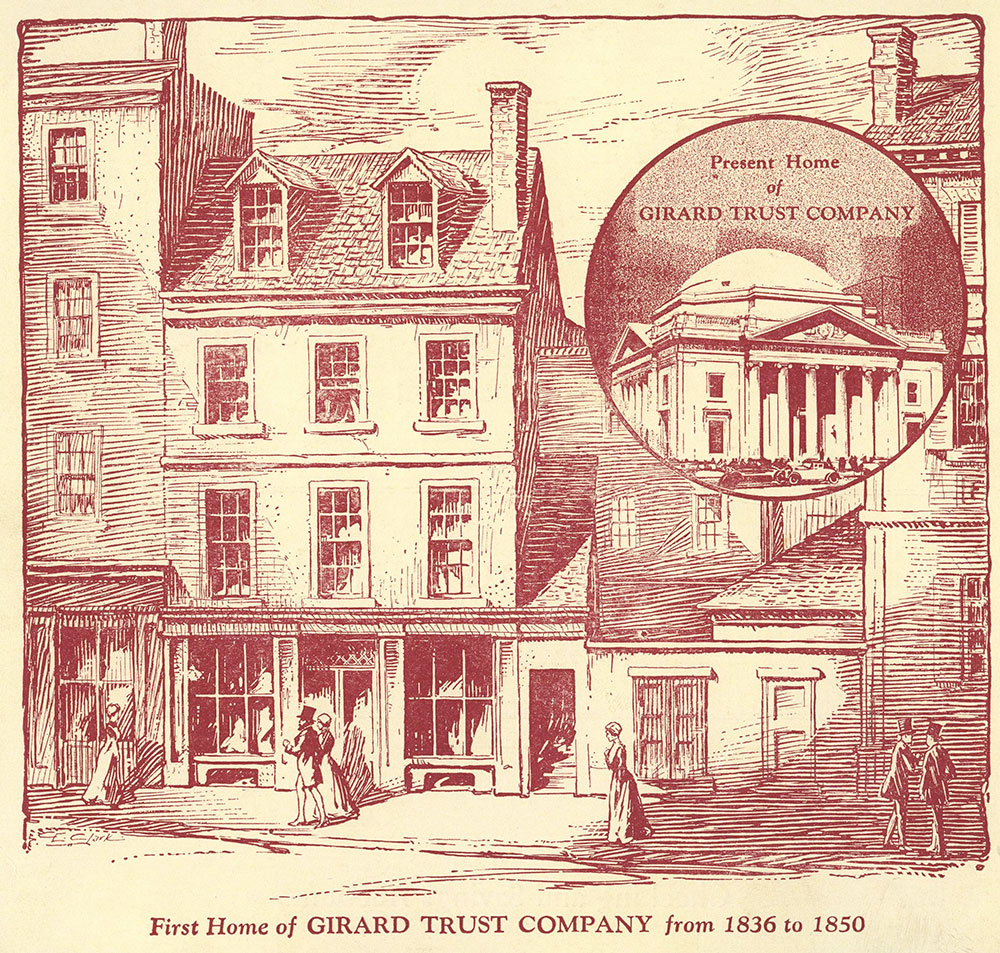 First Home of Girard Trust Company from 1836 to 1850