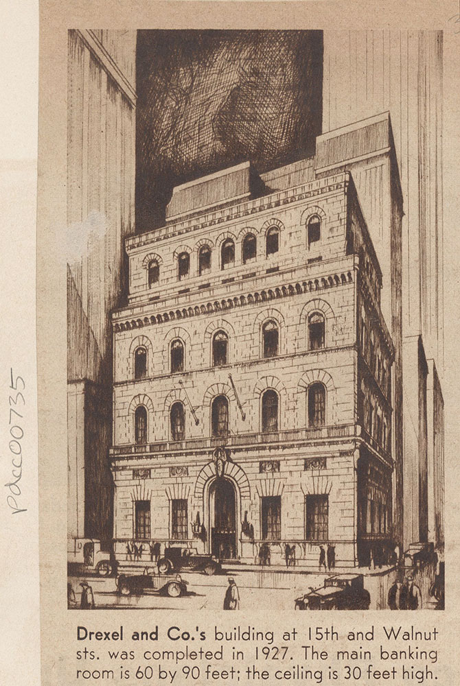Drexel and Co.'s building at 15th & Walnut Streets