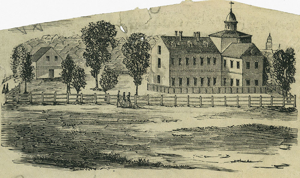 The Pennsylvania Hospital as it appeared about 1769.