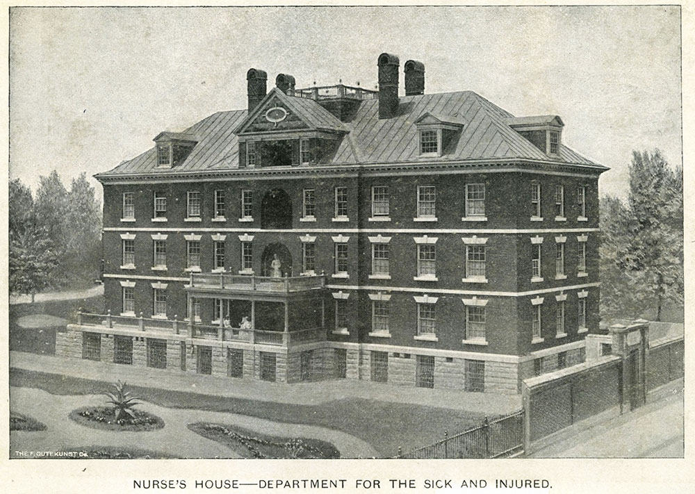 Nurse's House - Department for the Sick and Injured. Pennsylvania  Hopsital.