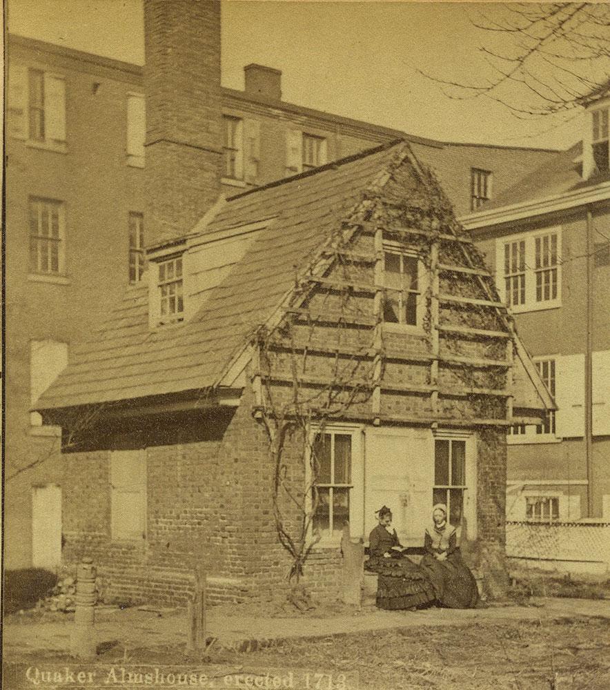 Quaker Almshouse, erected 1713.
