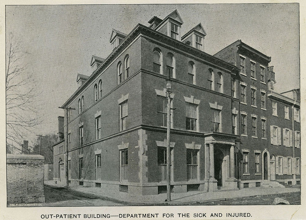Out-Patient Building - Department for the Sick and Injured. Pennsylvania Hospital.