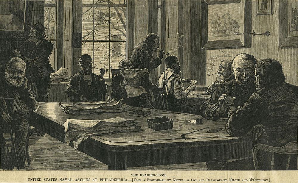 United States Naval Asylum at Philadelphia - The Reading-Room.