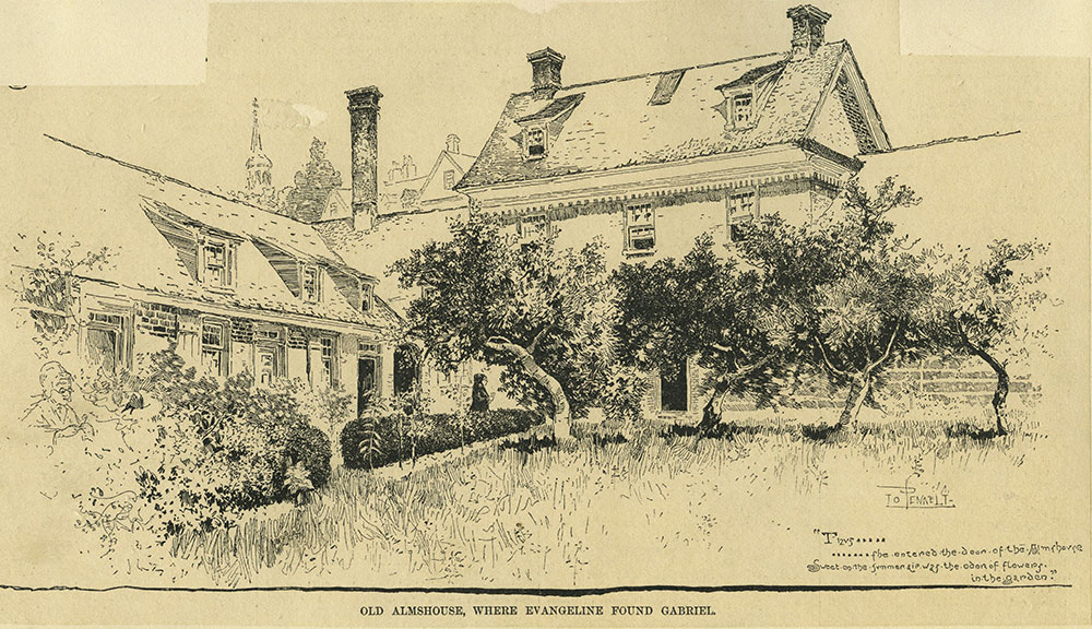 Old Almshouse, Where Evangeline Found Gabriel