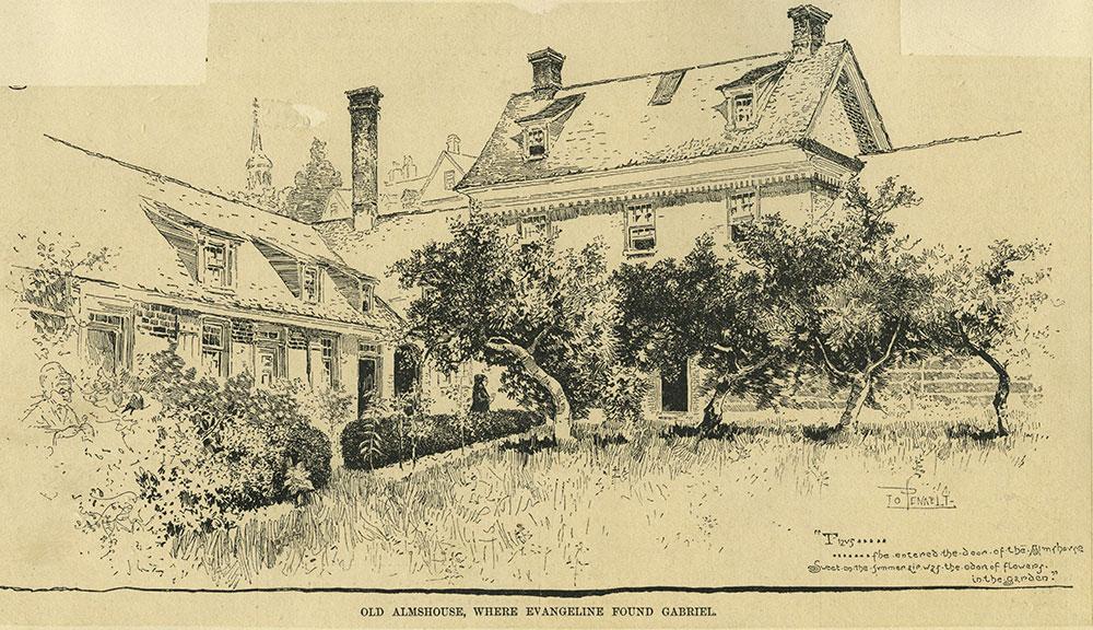Old Almshouse, Where Evangeline Found Gabriel
