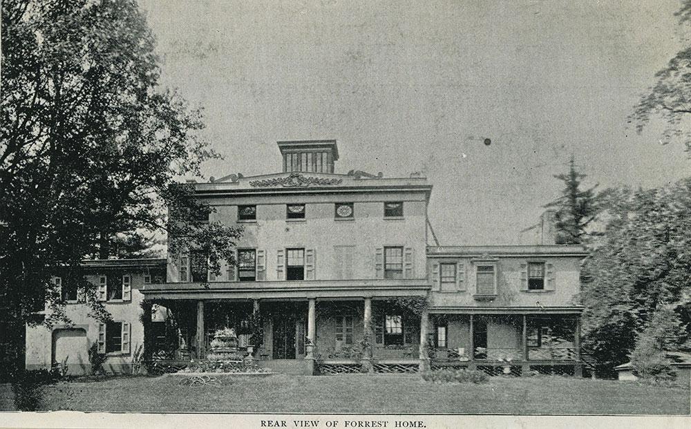 Edwin Forrest Home - Rear View