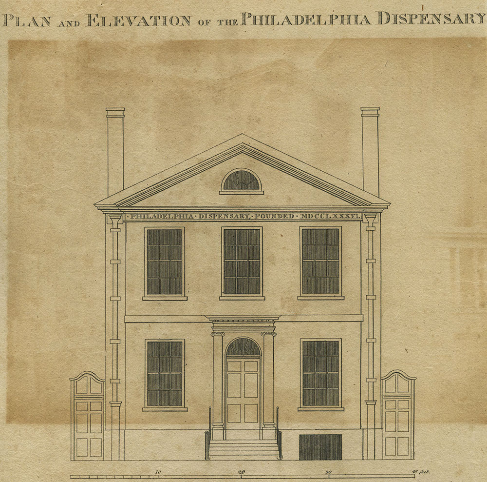 Plan and Elevation of the Philadelphia Dispensary