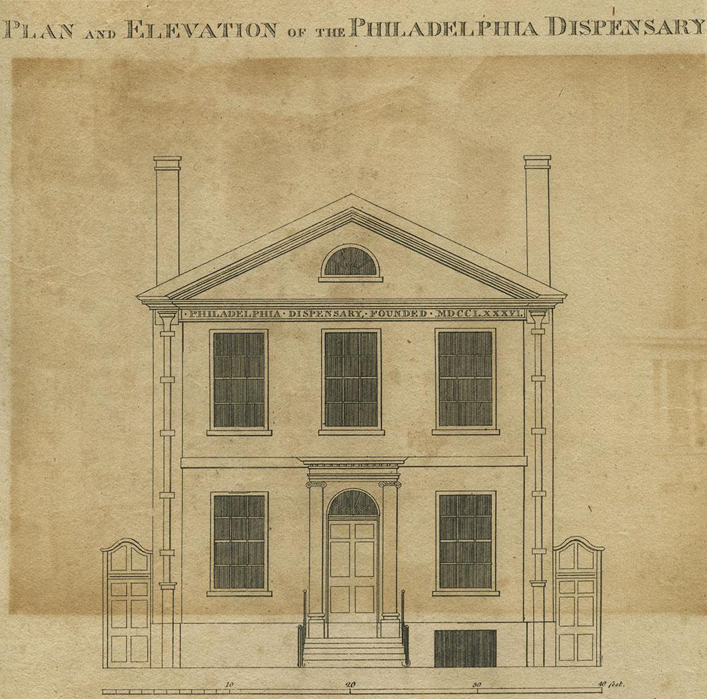 Plan and Elevation of the Philadelphia Dispensary