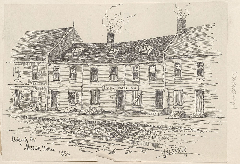 Bedford Street Mission House. 1854