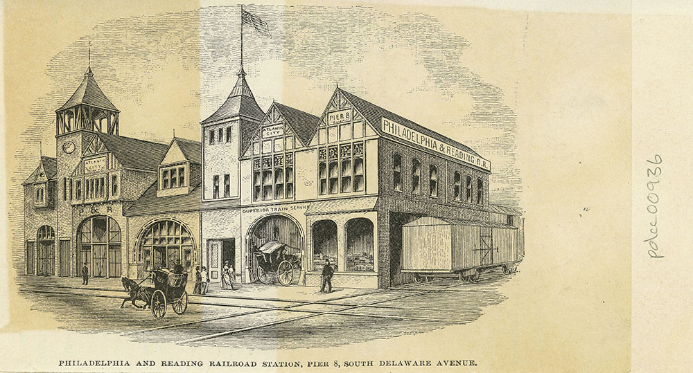 Philadelphia and Reading Railroad Station, Pier 8, South Delaware Avenue.