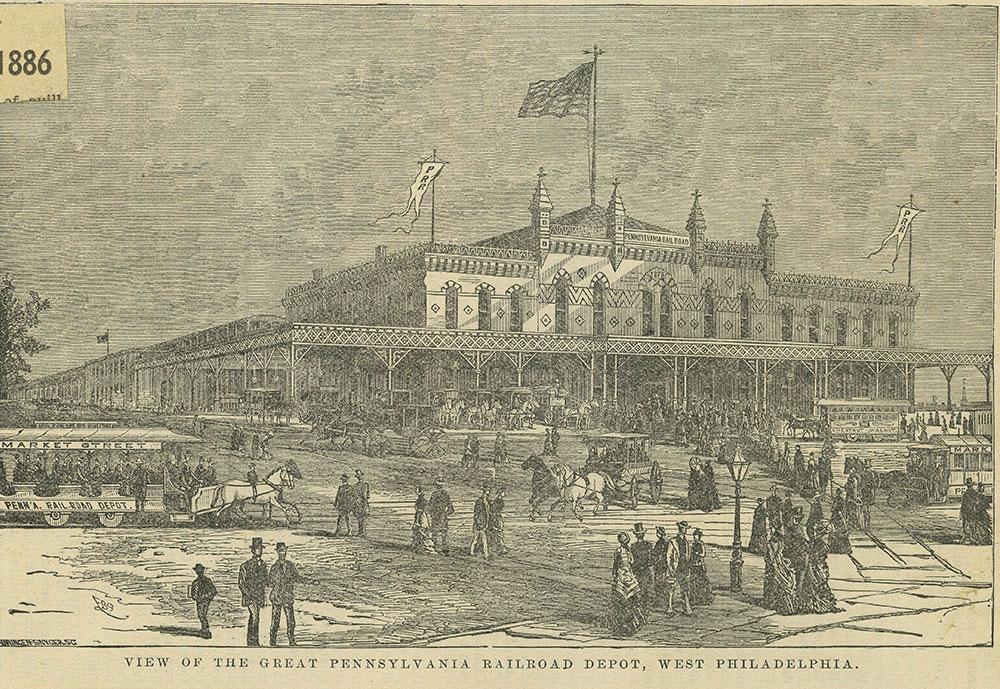 Pennsylvanian Railroad Depot, West Philadelphia.