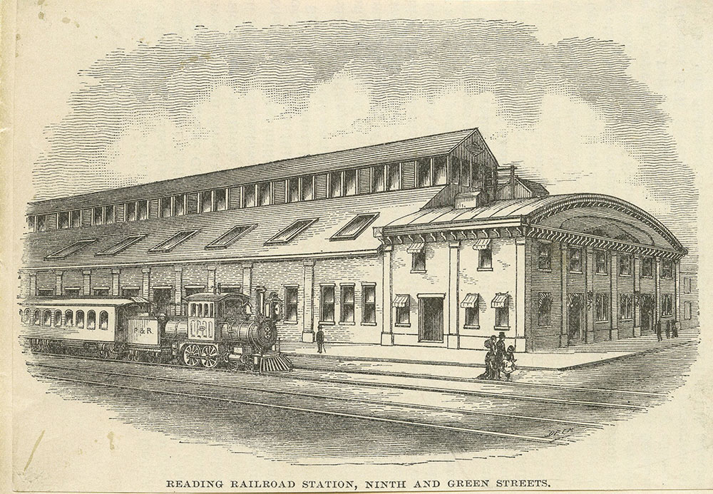 Reading Railroad Station, Ninth and Green Streets.