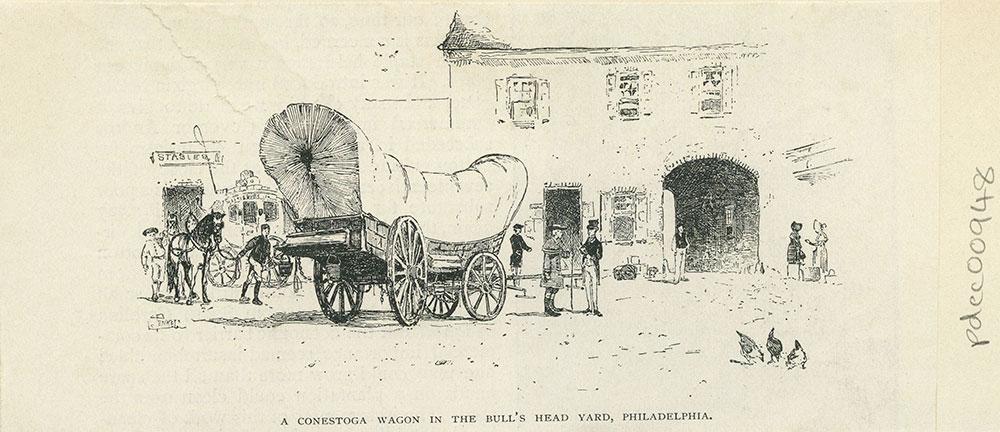 A Conestoga Wagon in the Bull's Head Yard, Philadelphia