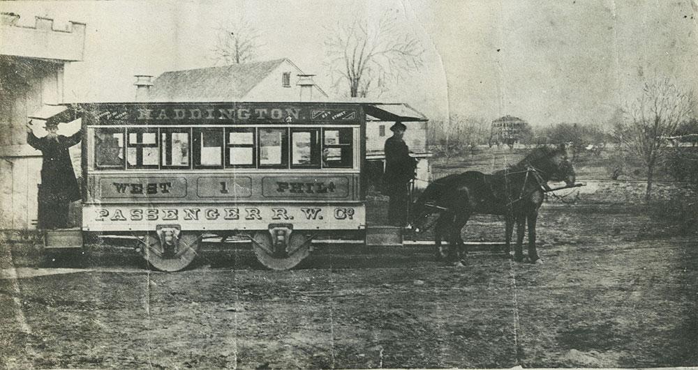 The First Horse-Car to Haddington Terminus.
