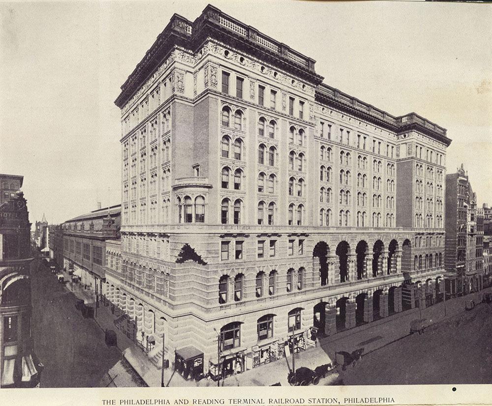 The Philadelphia and Reading Terminal Railroad Station.