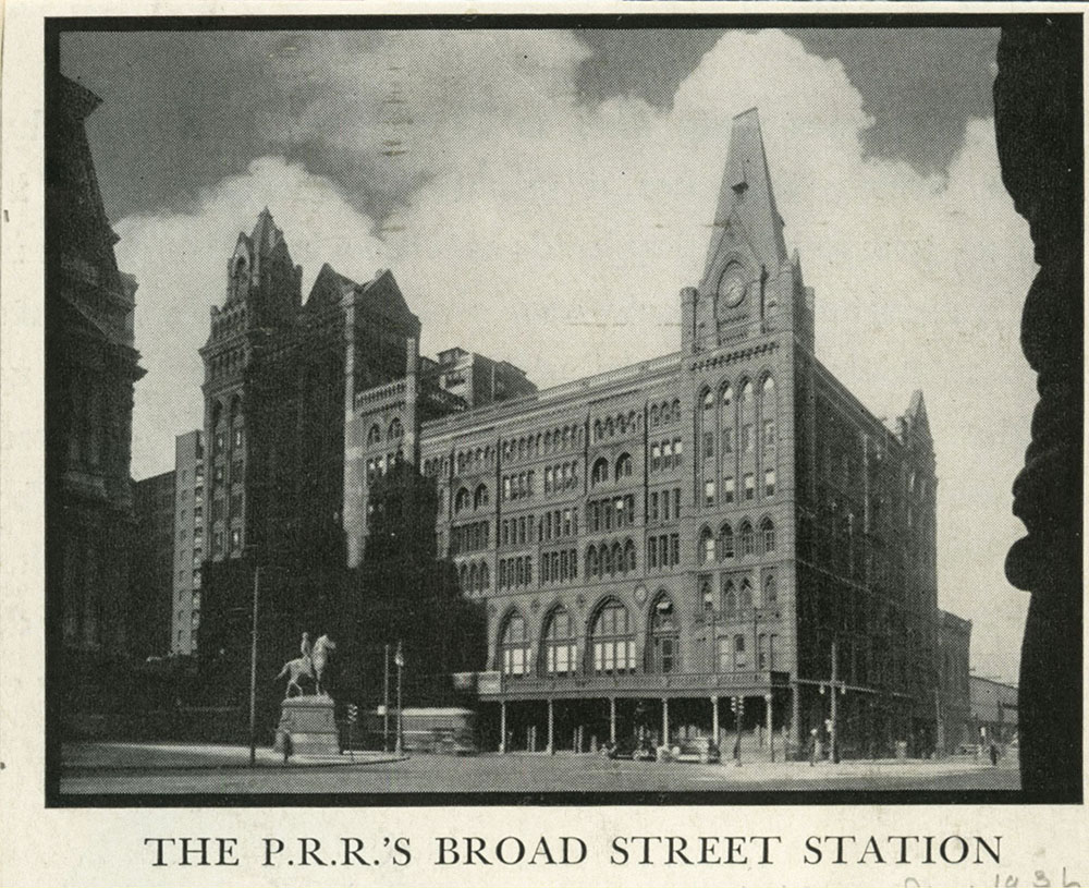 The P.R.R.'s Broad Street Sation