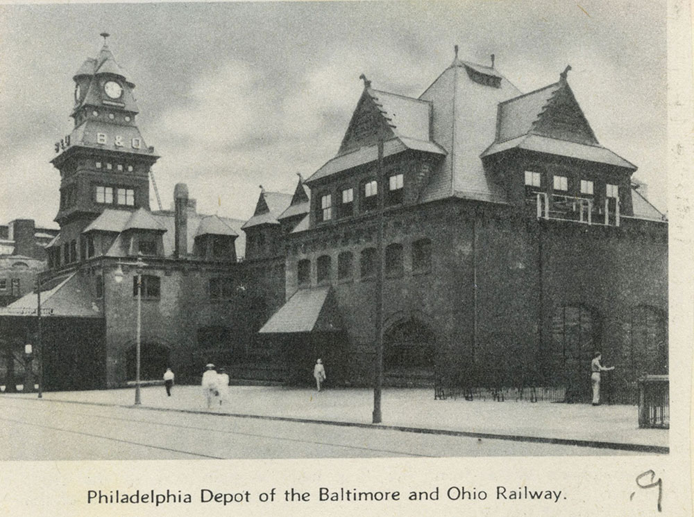 Philadelphia Depot of the Baltimore and Ohio Railway.