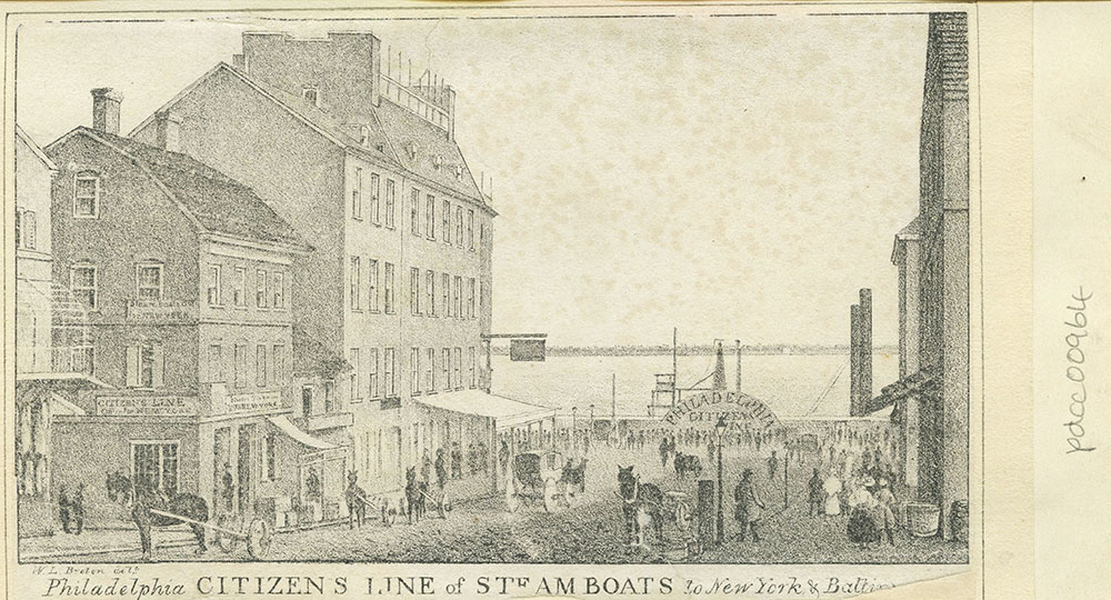 Philadelphia Citizen's Line of steam boats to New York & Baltimore
