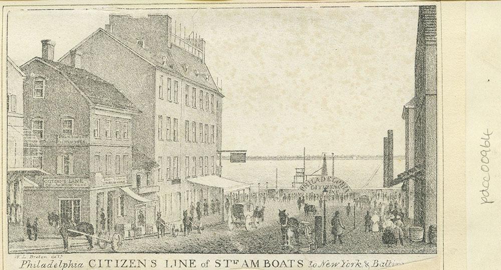 Philadelphia Citizen's Line of steam boats to New York & Baltimore