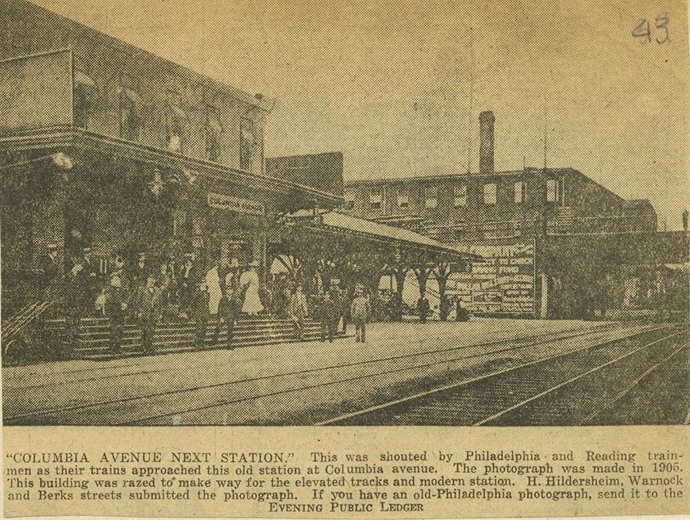 Columbia Avenue Railroad Station