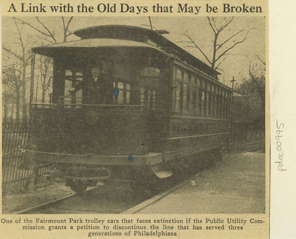Fairmount Park Trolley