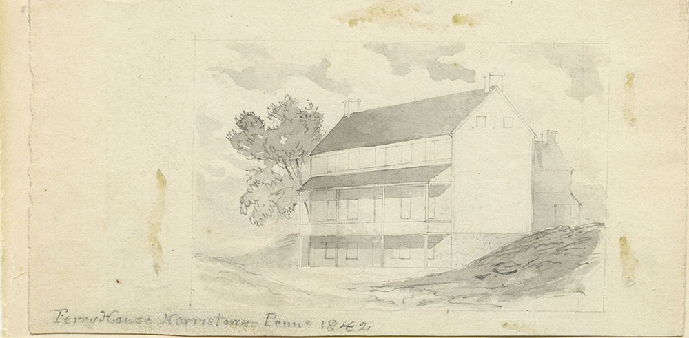 Ferry House, Norristown, Pa. 1842