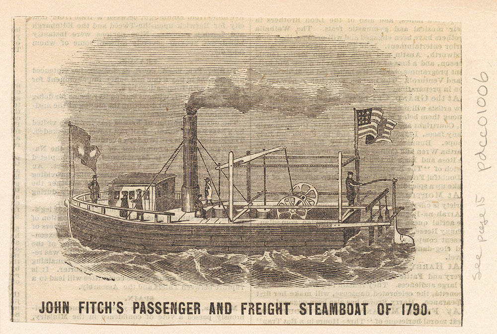 John Fitch's Passenger and Freight Steamboat of 1790.