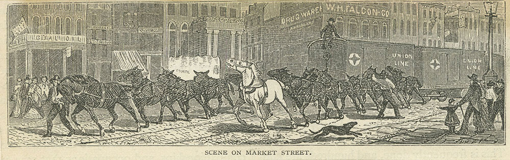 Horse railroad on Market Street
