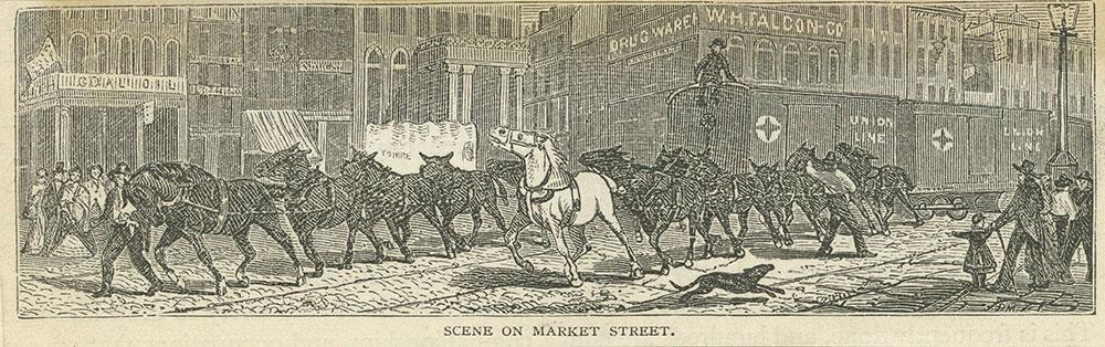 Horse railroad on Market Street