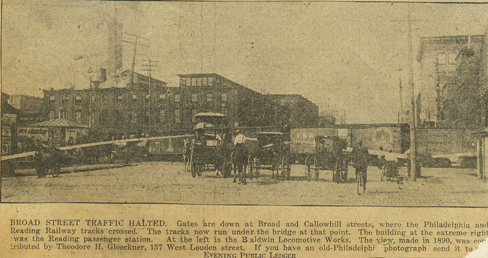 Broad & Callowhill Reading Railroad Crossing