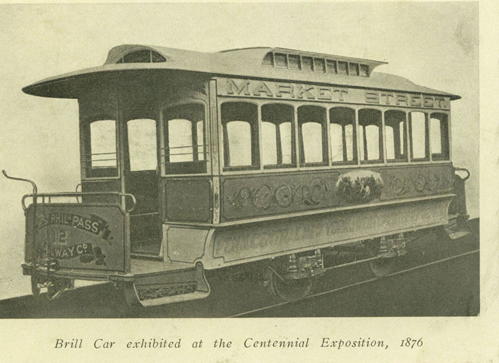 Brill Trolley Car exhibited at the Centennial Exposition, 1876