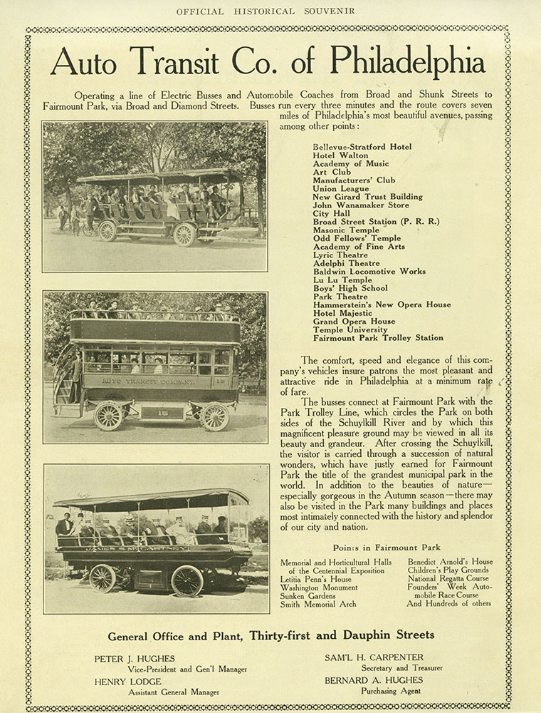 Auto Transit Co. of Philadelphia Advertisement.