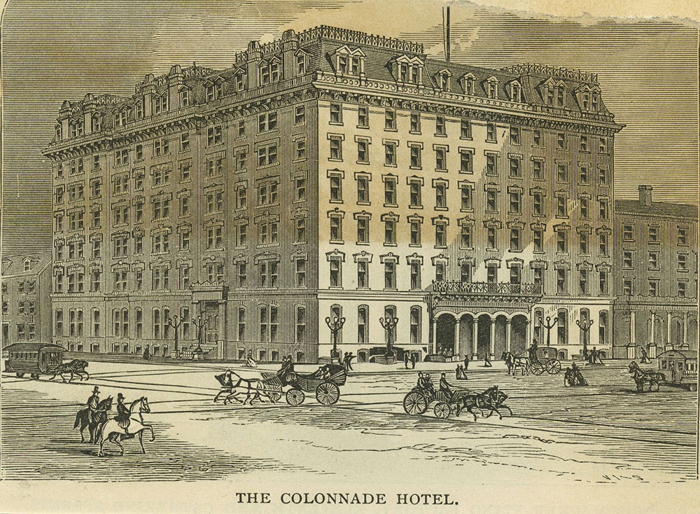 The Colonnade Hotel.