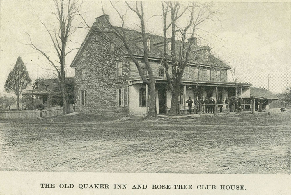The Old Quaker Inn and Rose-Tree Club House. [graphic]